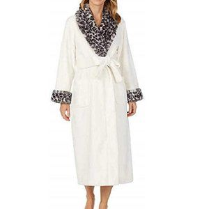 CAROLE HOCHMAN Plus Size 2X Belted Wrap Kimono Robe NWT $69